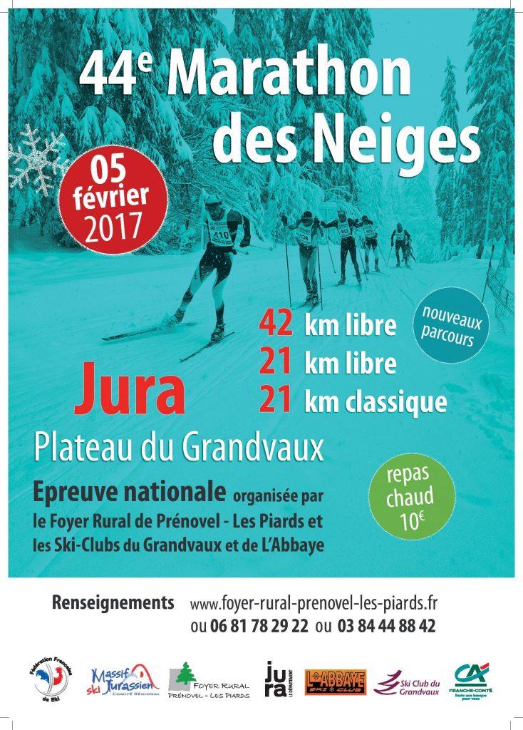 Affiche du Marathon des neiges 2017