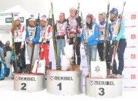 relais filles biathlon méribel